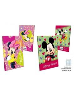 Cuaderno A4 - C4 90gr. 48 H.   Mickey. Pack de 4 Udes. - K.Bazar