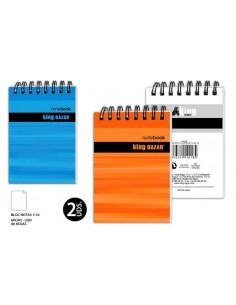 Bock Notas 1/16 - Liso  2U. 80 H. Mic.-  Pack de 6 Udes. - K.Bazar