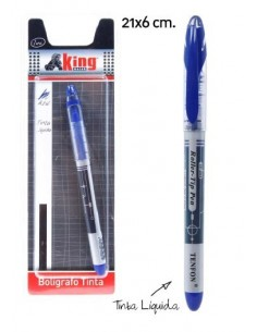 Boligrafo Tinta líquida 1 unds. Pack 6 Unidades - King Bazar