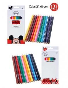 Lápices de Colores 12 piezas Mickey - Pack de 6 Blisters - K.Bazar