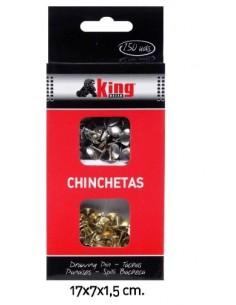 Chinchetas 150 unds. - Pack de 6 pcs. King Bazar
