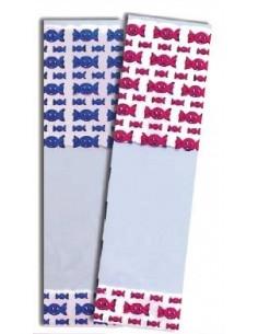 Bolsas rectangulares 7x25 cm Mod. Caramelos Azules. Pack  100 Uds.