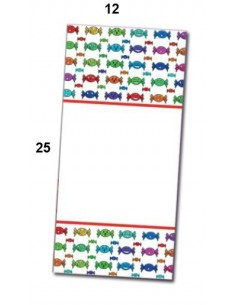 Bolsas rectangulares 12x25 cm Mod. Caramelos. Pack  100 unidades