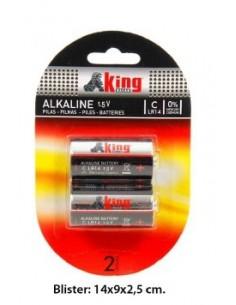 Pilas Alcalinas LR14 2 Udes. - Estuche 6 Blisters.K.B.