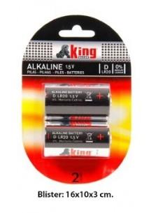 Pilas Alcalinas LR20  2 Udes. - Estuche 6 Blisters.K.B.