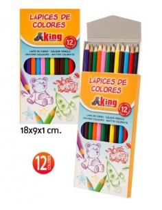 Lápices de Colores 12 piezas  - Pack de 12 Blisters - K.Bazar