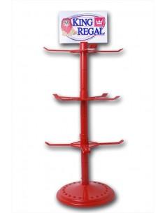Expositor KR Redondo Rojo para Bl. 100g