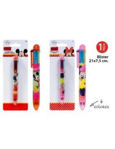Bolígrafo  6 Colores Mickey. Pack 6 Unidades - King Bazar