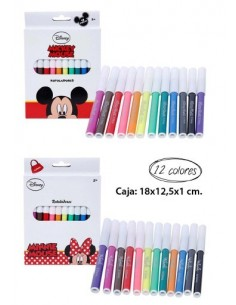 6 Packs de Rotuladores 12 piezas Mickey. Pack 6 Unidades - King Bazar
