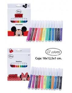 Rotuladores 12 piezas Mickey. Pack 6 Unidades - King Bazar